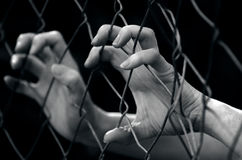 Human trafficking - Concept Photo Royalty Free Stock Photos