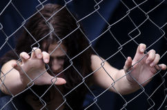 Human trafficking - Concept Photo Stock Photo