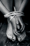 Human trafficking - Concept Photo Stock Image