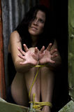 Human trafficking - Concept Photo Stock Photos