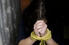 Human trafficking - Concept Photo Stock Photos
