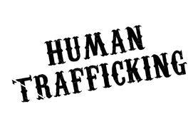 Human Trafficking rubber stamp Stock Photography