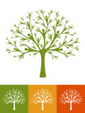 Human tree. A tree made of simplified human silhouette Stock Images