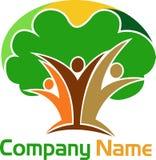 Human tree logo Royalty Free Stock Photos