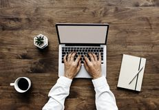 Human Using Black and Silver Laptop Computer Royalty Free Stock Photo