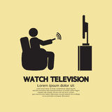 Human Watching Television Symbol Royalty Free Stock Photo