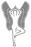 Human with wings. Vector illustration of the human with wings Royalty Free Stock Images