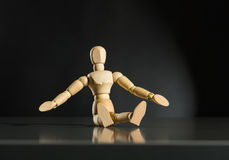 Human wood manikin Royalty Free Stock Images