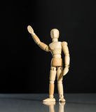 Human wood manikin Royalty Free Stock Images