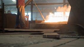 Human work at Furnace stock photography