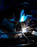 Human working of welding Stock Photos