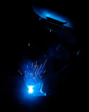 Human working of welding Stock Image