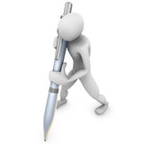 Human writing Stock Image