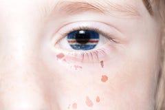 Human& x27; 与佛得角的国旗和地图的s面孔 免版税库存照片