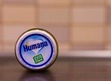 Humana有机婴儿食品 免版税库存照片
