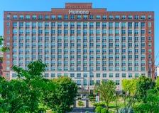 Humana Waterside Building - Louisville, Kentucky. Louisville, Kentucky, USA - MAY 22, 2016 - Human Waterside Building. Louisville based Humana Health Care is the royalty free stock image