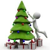 humanen för jul 3d satte stjärna t till att försöka royaltyfri illustrationer