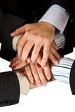 Humanen hands enhet Royaltyfri Foto