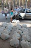 Humanitäre Hilfe Lizenzfreies Stockfoto