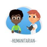 Humanitärt medicinskt begrepp också vektor för coreldrawillustration Arkivfoto