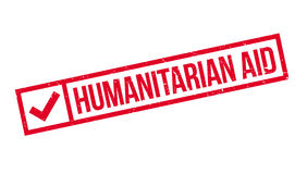 Humanitarian Aid rubber stamp. Grunge design with dust scratches. Effects can be easily removed for a clean, crisp look. Color is easily changed Stock Images