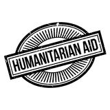 Humanitarian Aid rubber stamp. Grunge design with dust scratches. Effects can be easily removed for a clean, crisp look. Color is easily changed Royalty Free Stock Photo