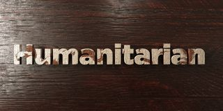 Humanitarian - grungy wooden headline on Maple  - 3D rendered royalty free stock image Royalty Free Stock Photos