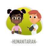 Humanitarian medical concept. Vector illustration. Stock Photo