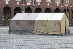 Humanitarian tent Royalty Free Stock Photography