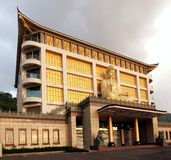 Humanities Memorial Temple in Southern Taiwan. PINGTUNG, TAIWAN -- APRIL 30, 2015: The Lilong Humanities Memorial Temple is an imposing Buddhist structure in the Stock Photos