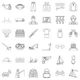 Humanity icons set, outline style. Humanity icons set. Outline set of 36 humanity vector icons for web isolated on white background Royalty Free Stock Photos