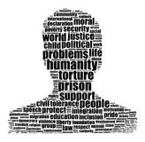 Humanity word cloud concept. Over white background Royalty Free Stock Photo