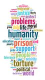 Humanity word cloud concept royalty free illustration