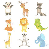 Humanized Animals Set Of Artistic Funny Stickers Stock Photo