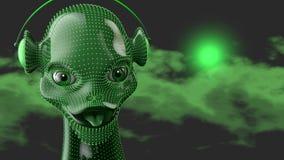 Humanoïde vert Photos libres de droits