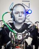 Humanoid bij Robot en de Makers tonen Stock Foto