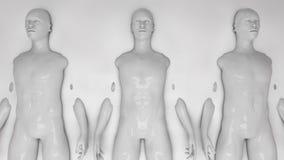 Humanoid clones and liquid Stock Images