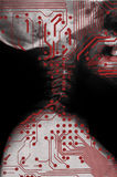 Humanoid, future medicine. Royalty Free Stock Images