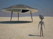Humanoid landing Stock Photo