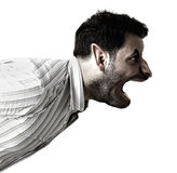 Humanoid monster screaming Stock Images