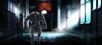 Humanoid potwór Zdjęcia Royalty Free
