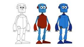 Humanoid robot ilustracja wektor