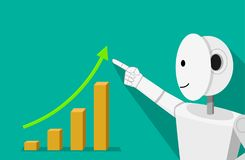 Humanoid robot can increase your income. Vector Royalty Free Stock Images