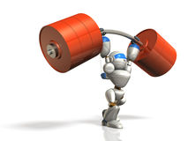 Humanoid robot jest posiada nadludzką siłę. Obraz Royalty Free