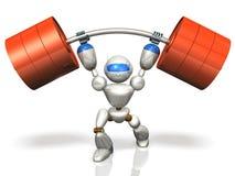 Humanoid robot jest posiada nadludzką siłę. Obrazy Royalty Free