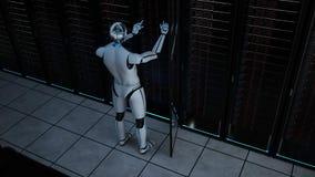 Free Humanoid Robot Server Room Maintenance Stock Photo - 187499680