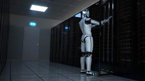 Free Humanoid Robot Server Room Maintenance Stock Photos - 187860783