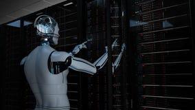 Free Humanoid Robot Server Room Maintenance Royalty Free Stock Photo - 187860805