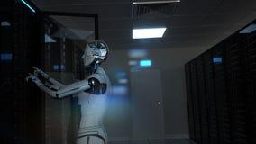 Free Humanoid Robot Server Room Maintenance Stock Image - 188148181
