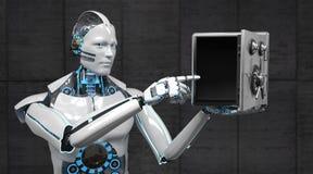 Humanoid Robot Strongbox royalty free stock photography